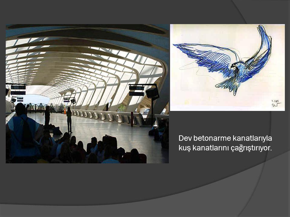 Dev betonarme kanatlarıyla kuş kanatlarını çağrıştırıyor.