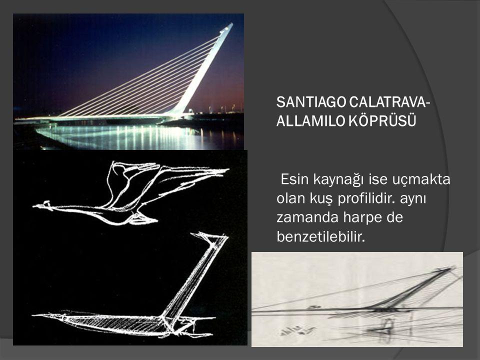 SANTIAGO CALATRAVA- ALLAMILO KÖPRÜSÜ Esin kaynağı ise uçmakta olan kuş profilidir.