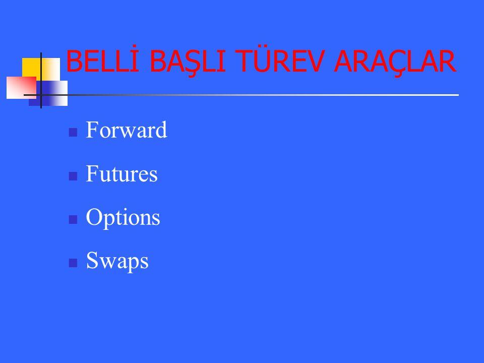 BELLİ BAŞLI TÜREV ARAÇLAR
