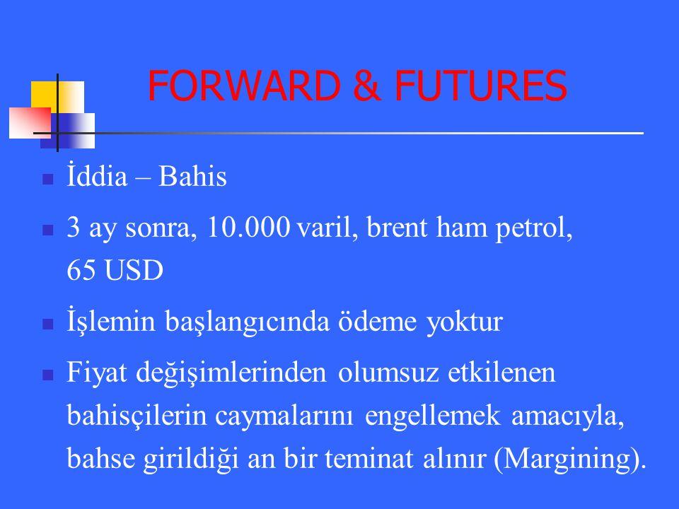 FORWARD & FUTURES İddia – Bahis