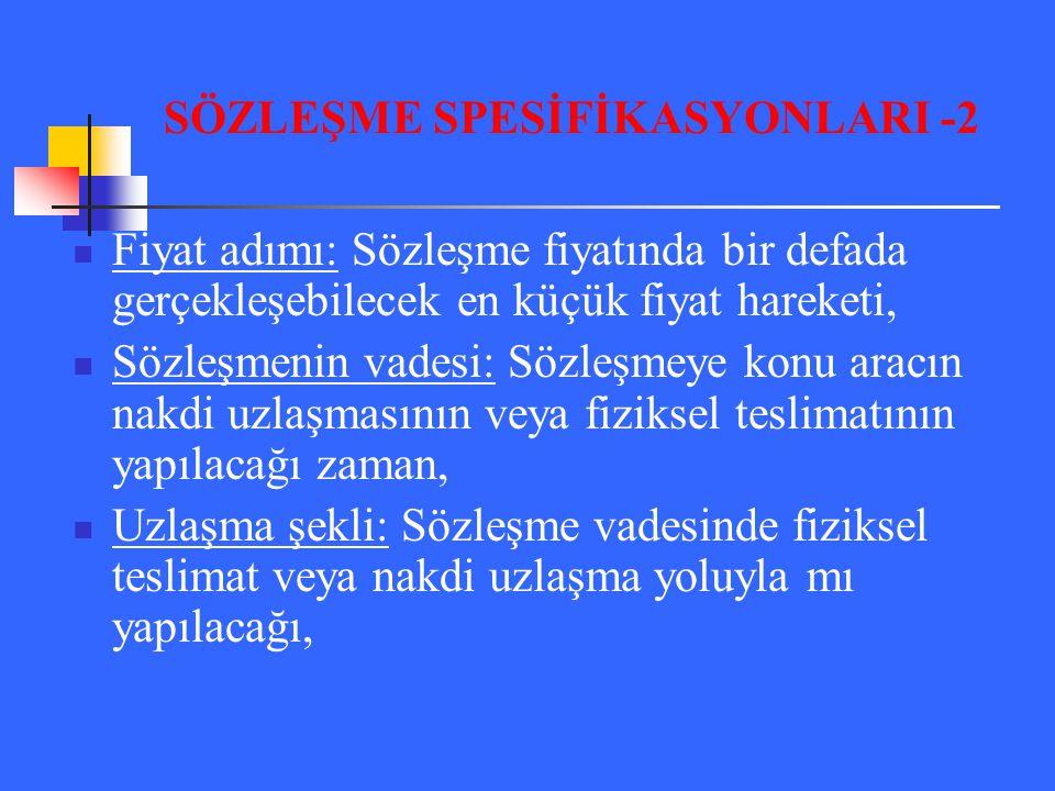 SÖZLEŞME SPESİFİKASYONLARI -2