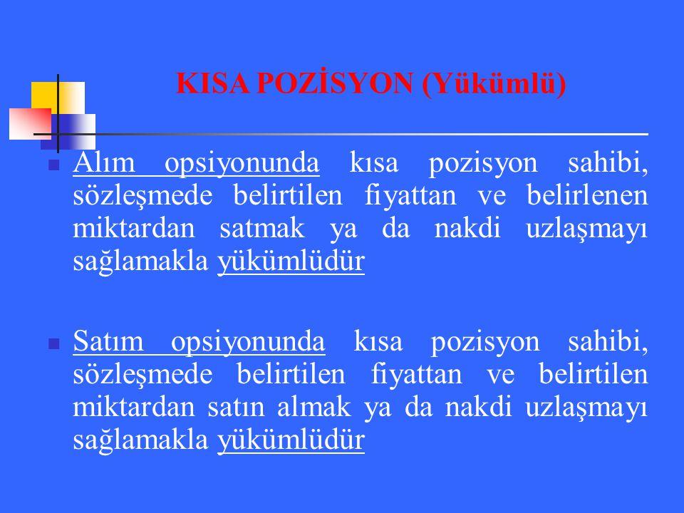 KISA POZİSYON (Yükümlü)
