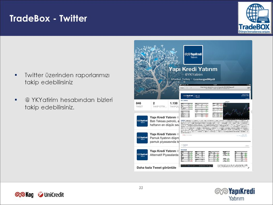 TradeBox - Twitter Twitter üzerinden raporlarımızı takip edebilirsiniz
