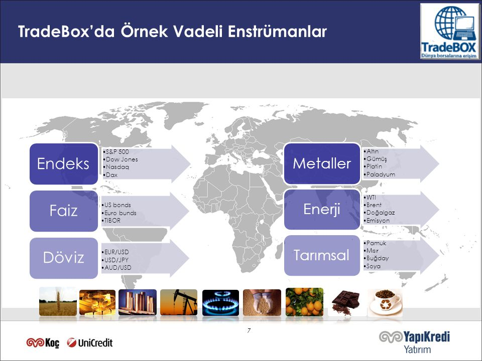 TradeBox'da Örnek Vadeli Enstrümanlar