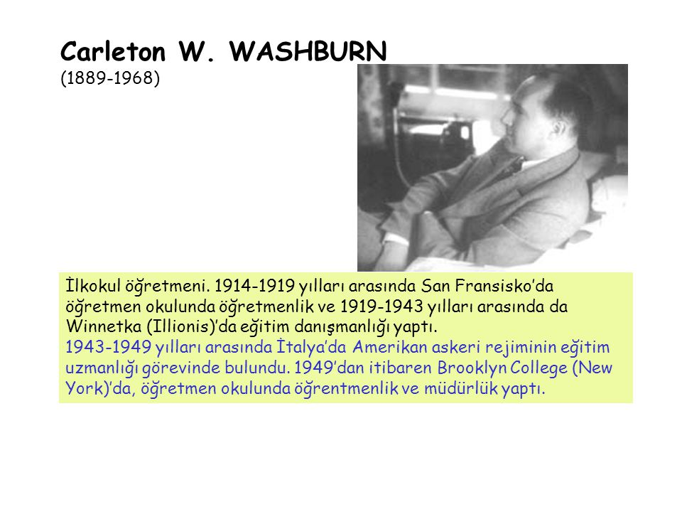 Carleton W. WASHBURN (1889-1968)