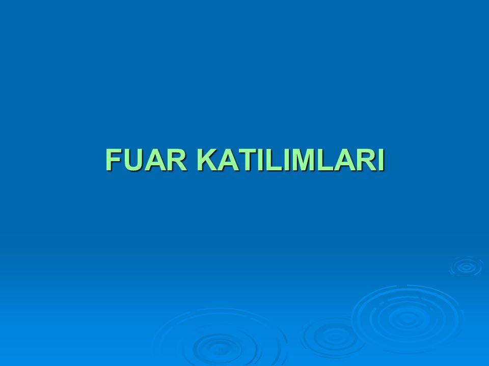 FUAR KATILIMLARI
