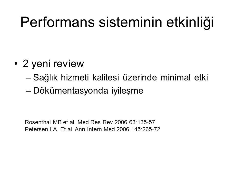 Performans sisteminin etkinliği