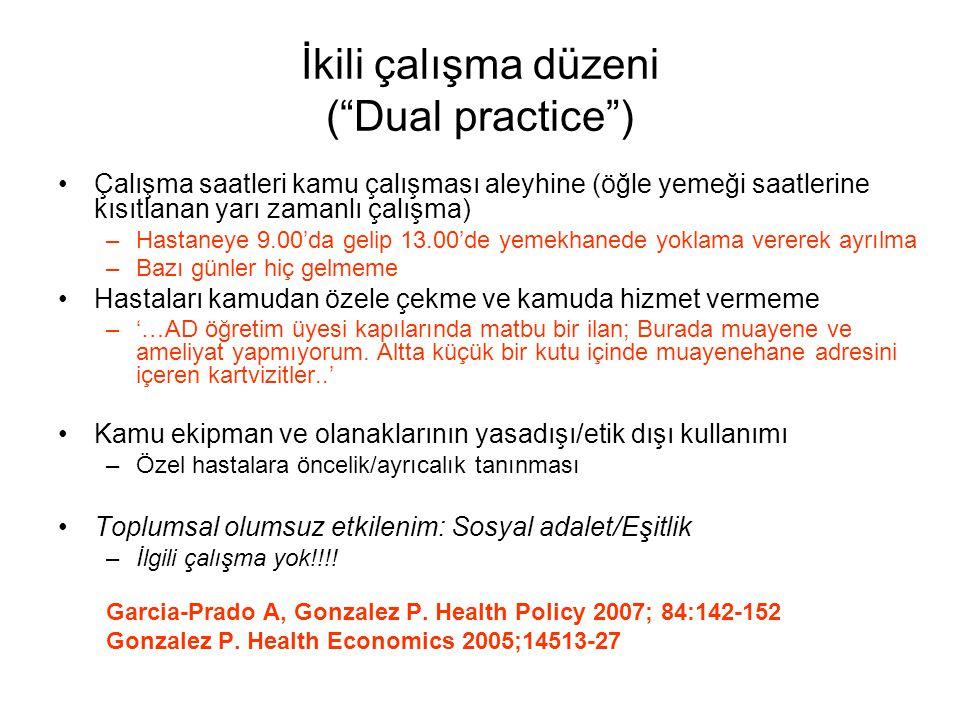İkili çalışma düzeni ( Dual practice )
