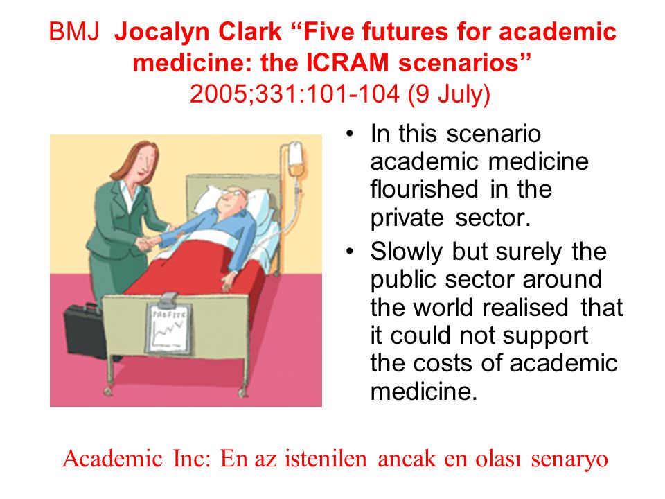 BMJ Jocalyn Clark Five futures for academic medicine: the ICRAM scenarios 2005;331:101-104 (9 July)