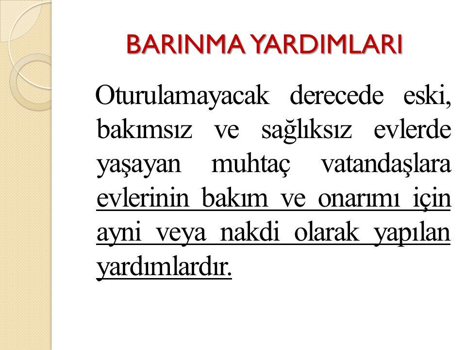 BARINMA YARDIMLARI