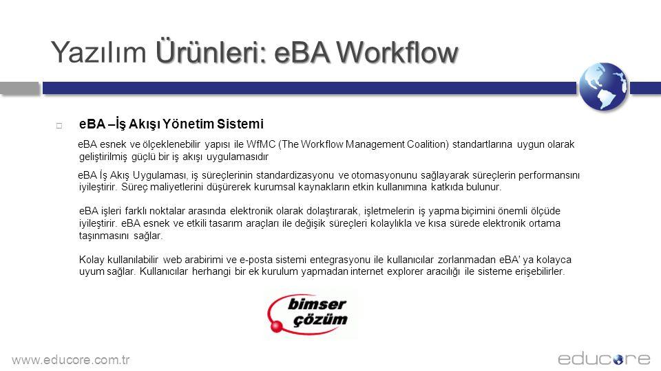 Yazılım Ürünleri: eBA Workflow