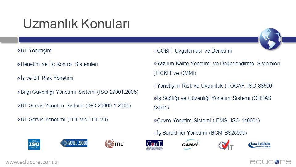Uzmanlık Konuları BT Yönetişim COBIT Uygulaması ve Denetimi