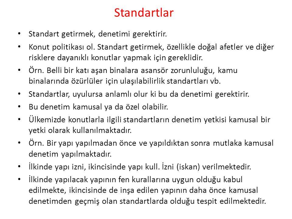 Standartlar Standart getirmek, denetimi gerektirir.
