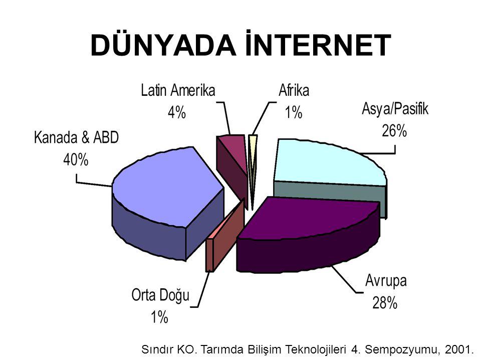 DÜNYADA İNTERNET Sındır KO. Tarımda Bilişim Teknolojileri 4. Sempozyumu, 2001.