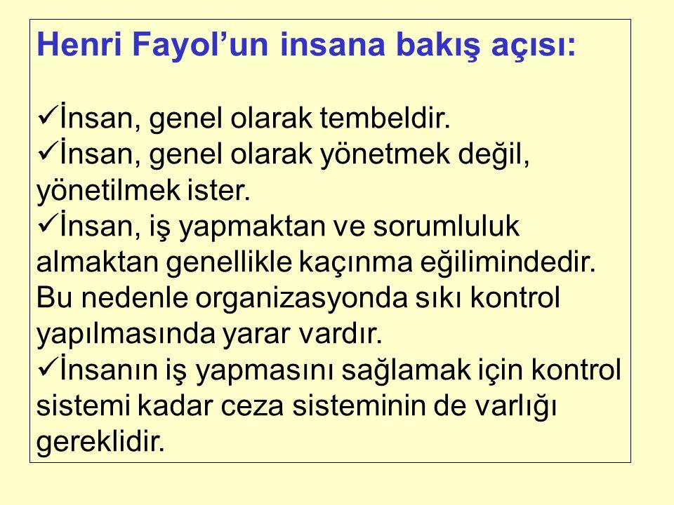 Henri Fayol'un insana bakış açısı: