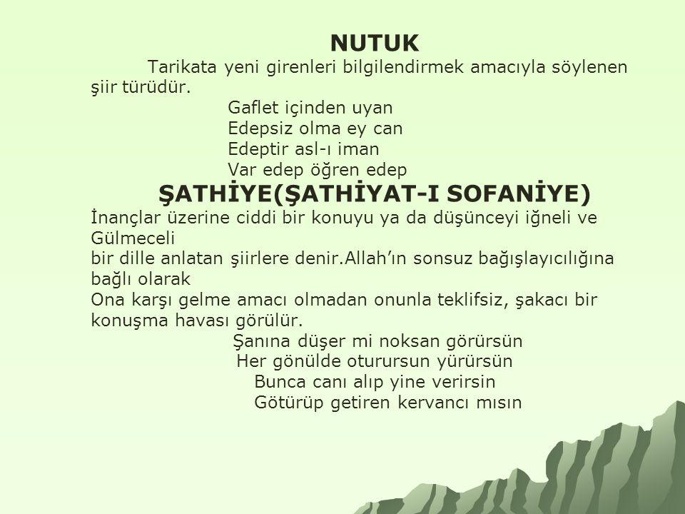 ŞATHİYE(ŞATHİYAT-I SOFANİYE)