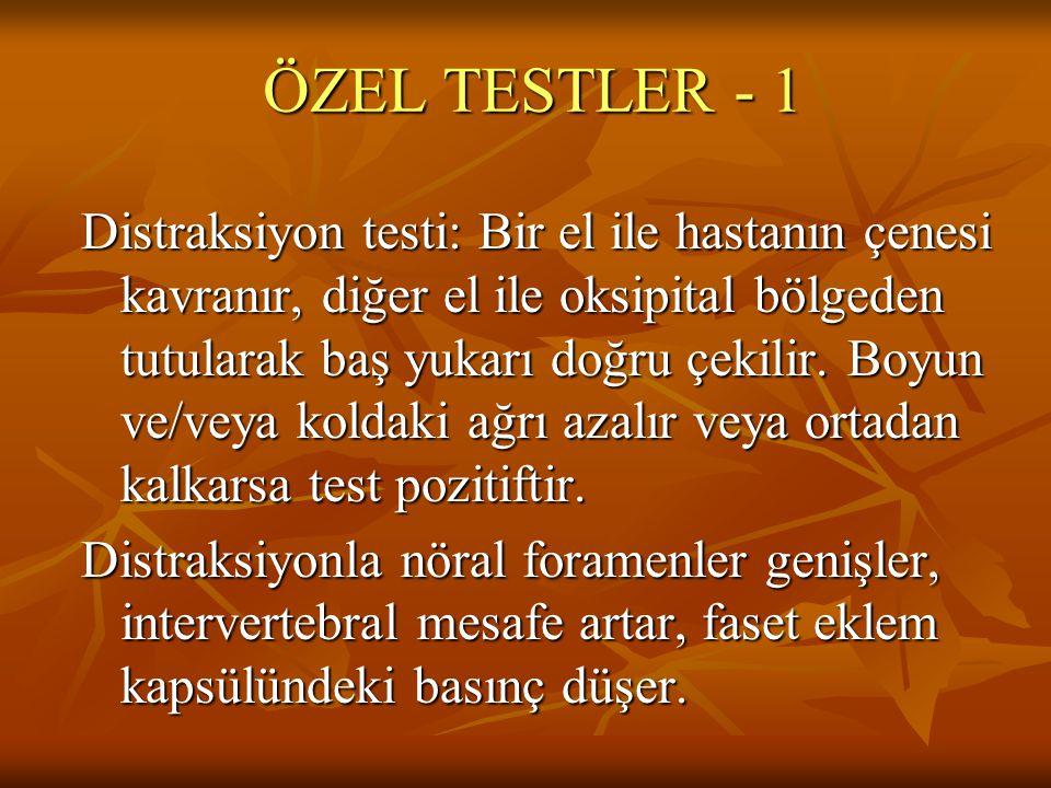 ÖZEL TESTLER - 1