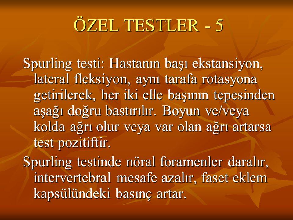 ÖZEL TESTLER - 5