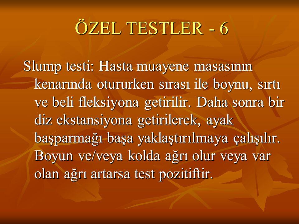 ÖZEL TESTLER - 6