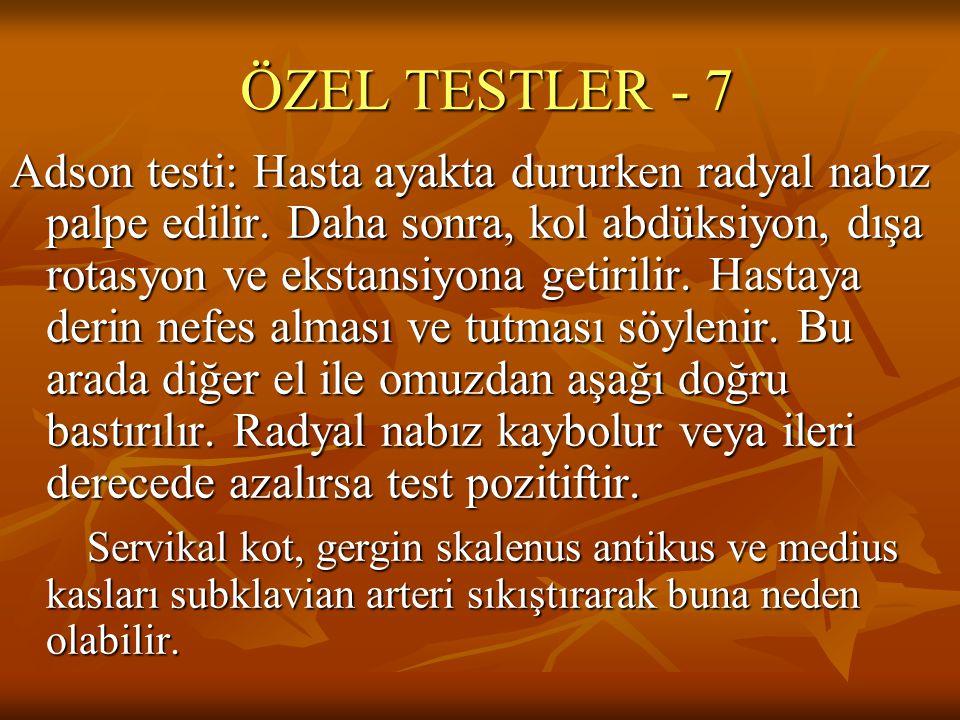 ÖZEL TESTLER - 7