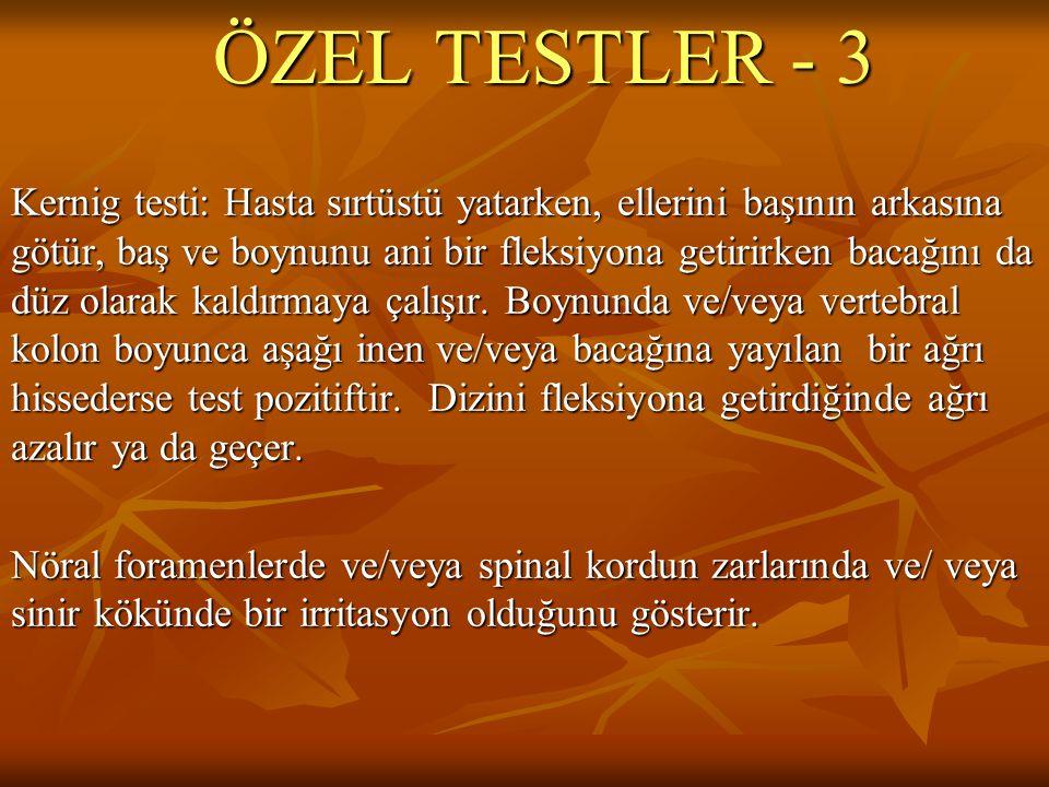 ÖZEL TESTLER - 3
