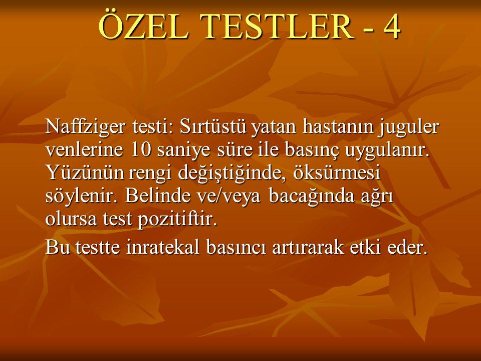 ÖZEL TESTLER - 4
