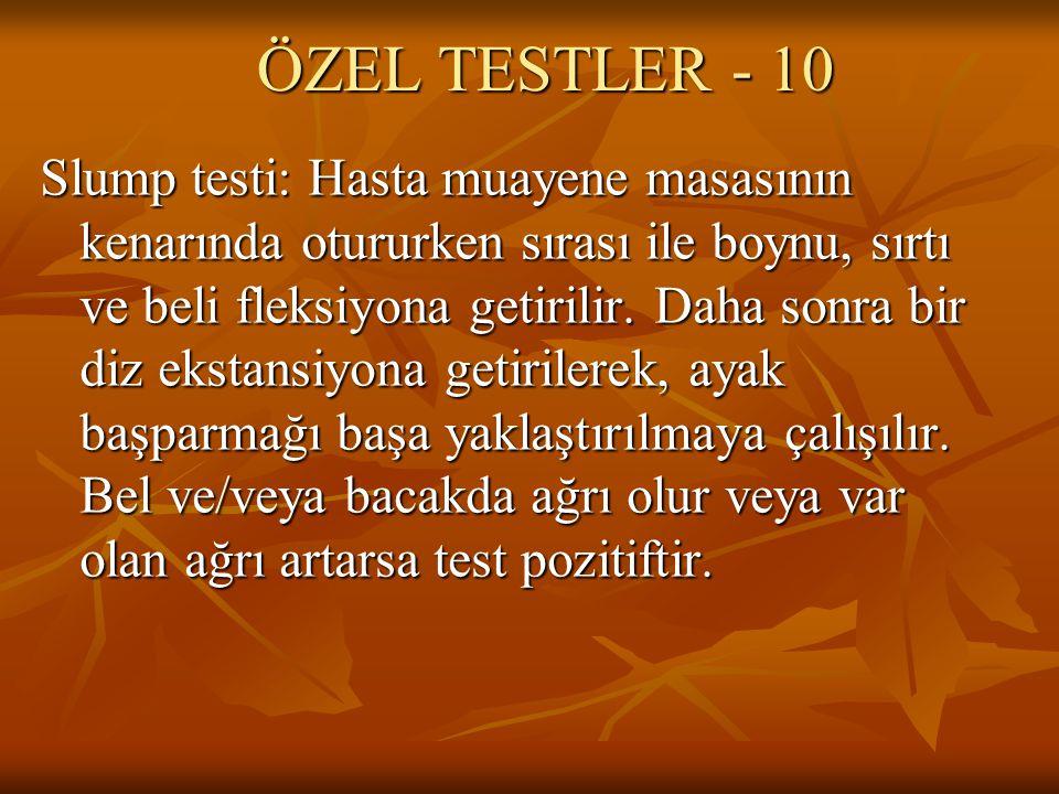ÖZEL TESTLER - 10