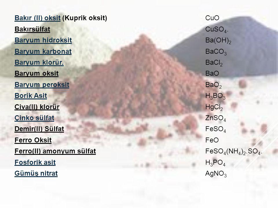 Bakır (II) oksit (Kuprik oksit)