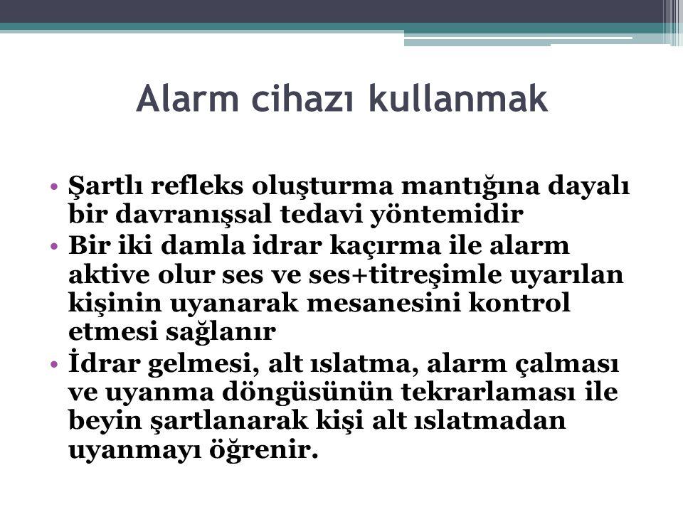 Alarm cihazı kullanmak