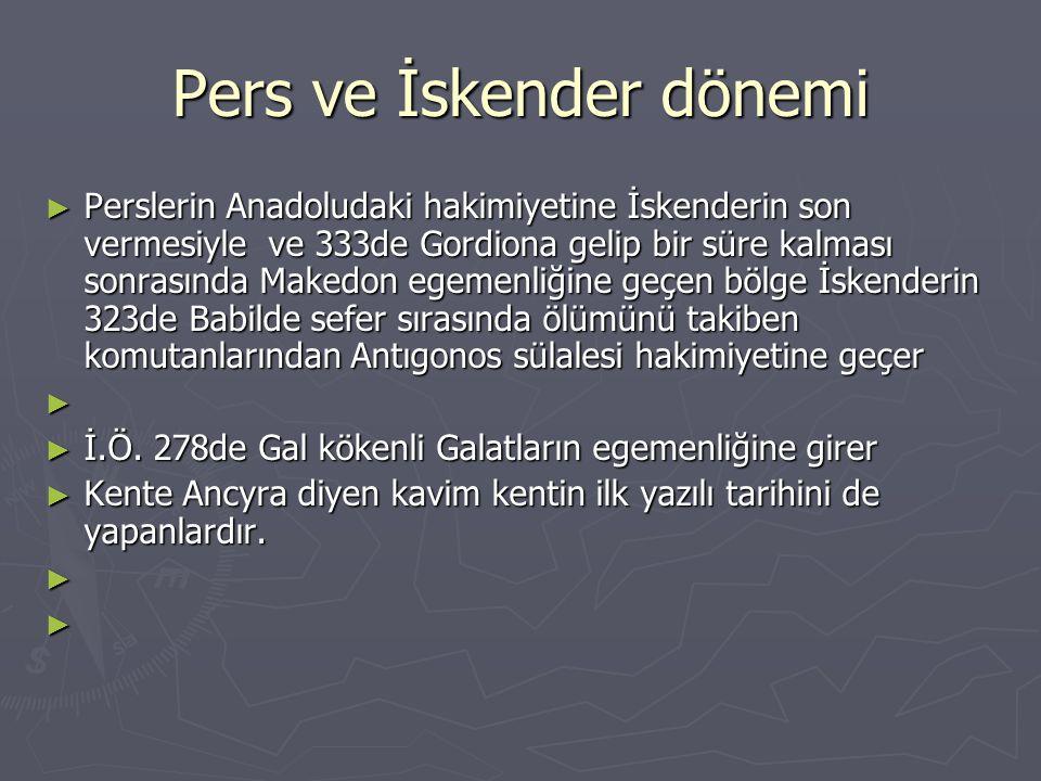 Pers ve İskender dönemi