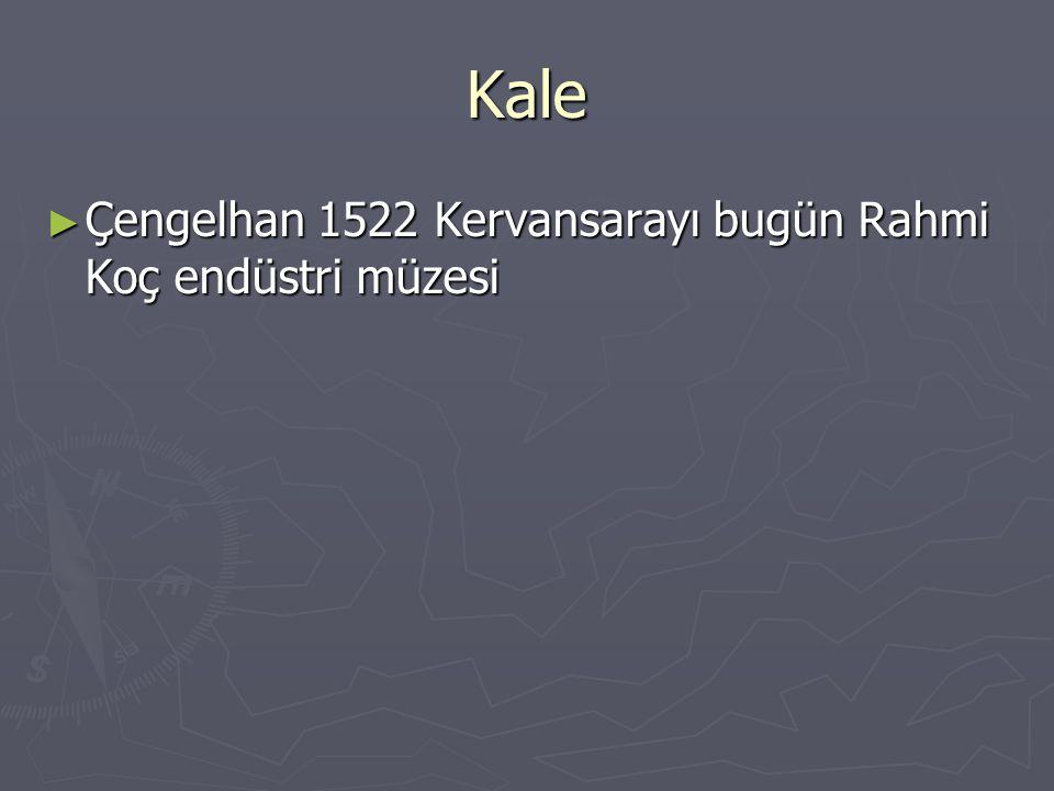 Kale Çengelhan 1522 Kervansarayı bugün Rahmi Koç endüstri müzesi