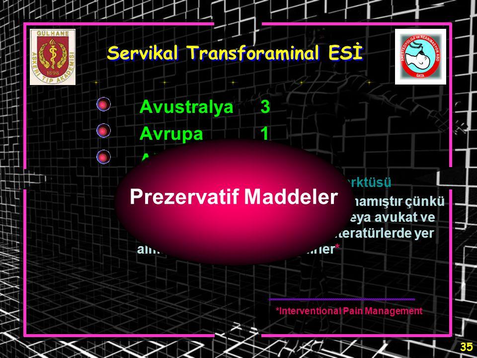 Servikal Transforaminal ESİ