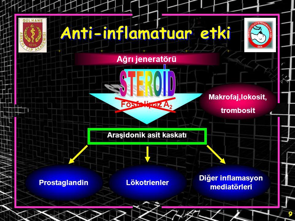 Anti-inflamatuar etki