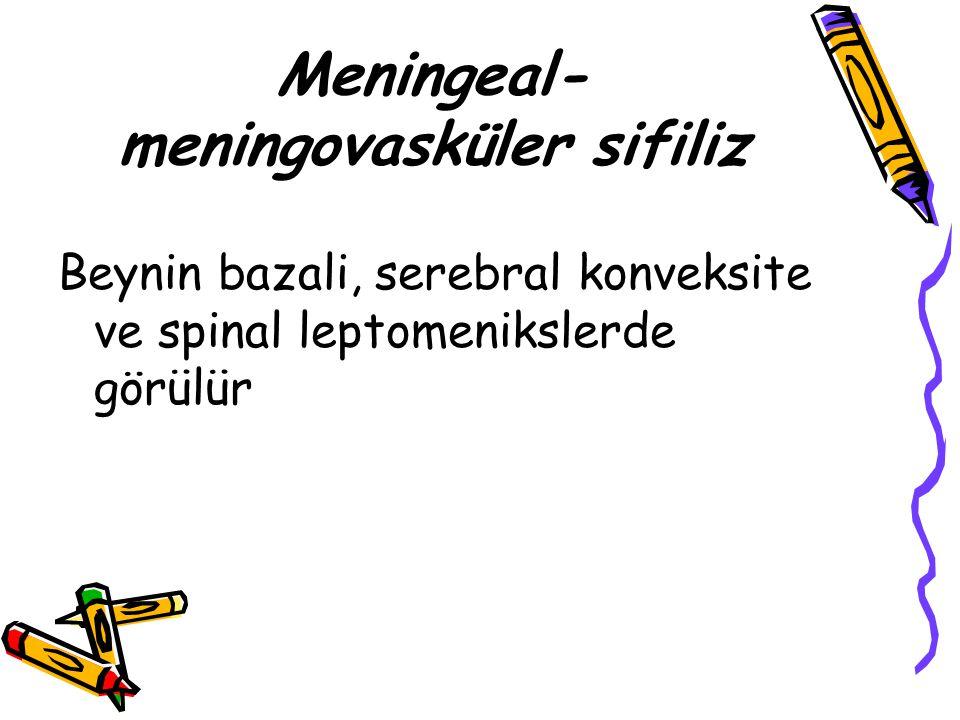 Meningeal-meningovasküler sifiliz