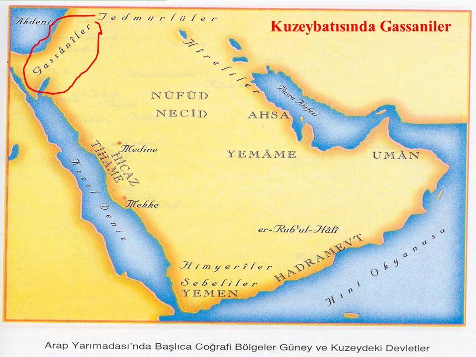 Kuzeybatısında Gassaniler