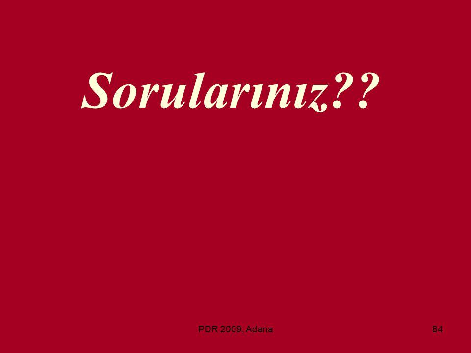 Sorularınız PDR 2009, Adana