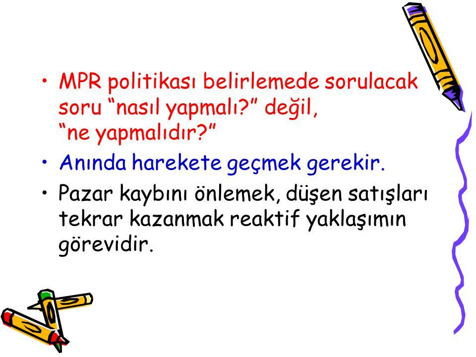 MPR politikası belirlemede sorulacak soru nasıl yapmalı