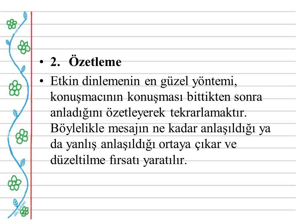 2. Özetleme