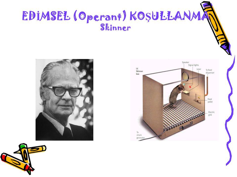 EDİMSEL (Operant) KOŞULLANMA Skinner