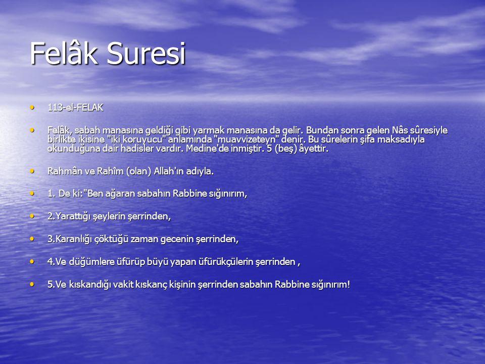 Felâk Suresi 113-el-FELAK