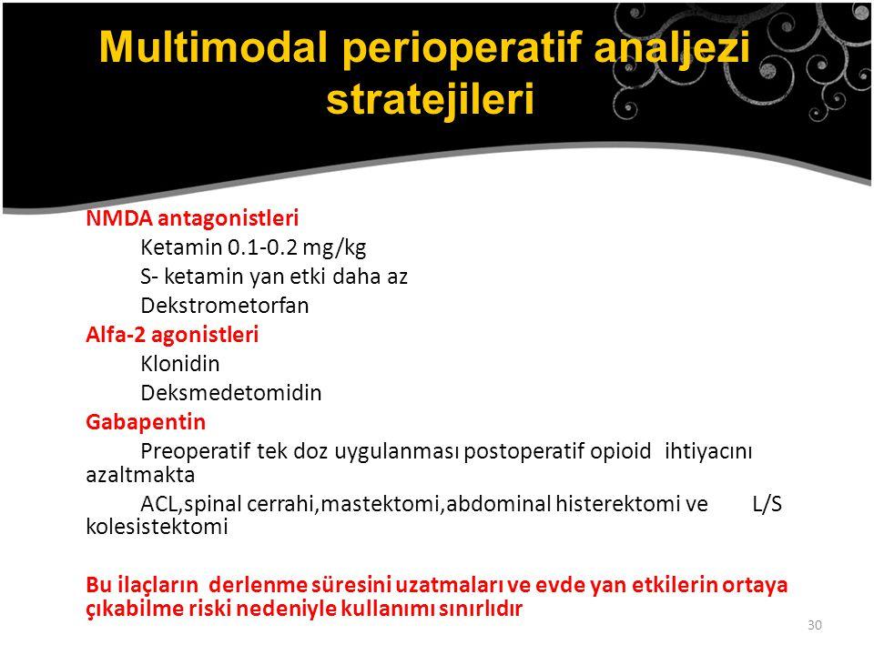 Multimodal perioperatif analjezi