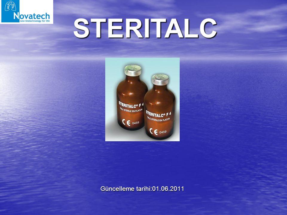 STERITALC Güncelleme tarihi:01.06.2011