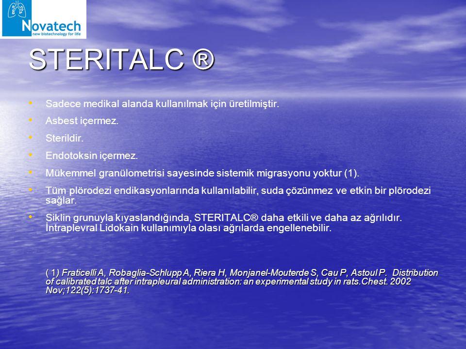 STERITALC ® Sadece medikal alanda kullanılmak için üretilmiştir.