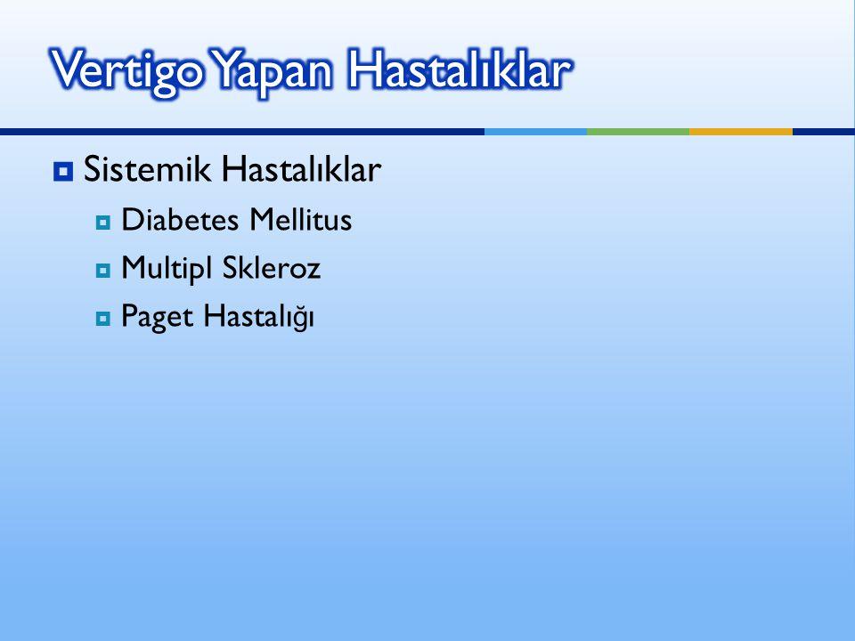Vertigo Yapan Hastalıklar