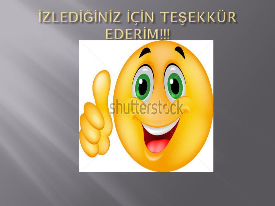 İZLEDİĞİNİZ İÇİN TEŞEKKÜR EDERİM!!!