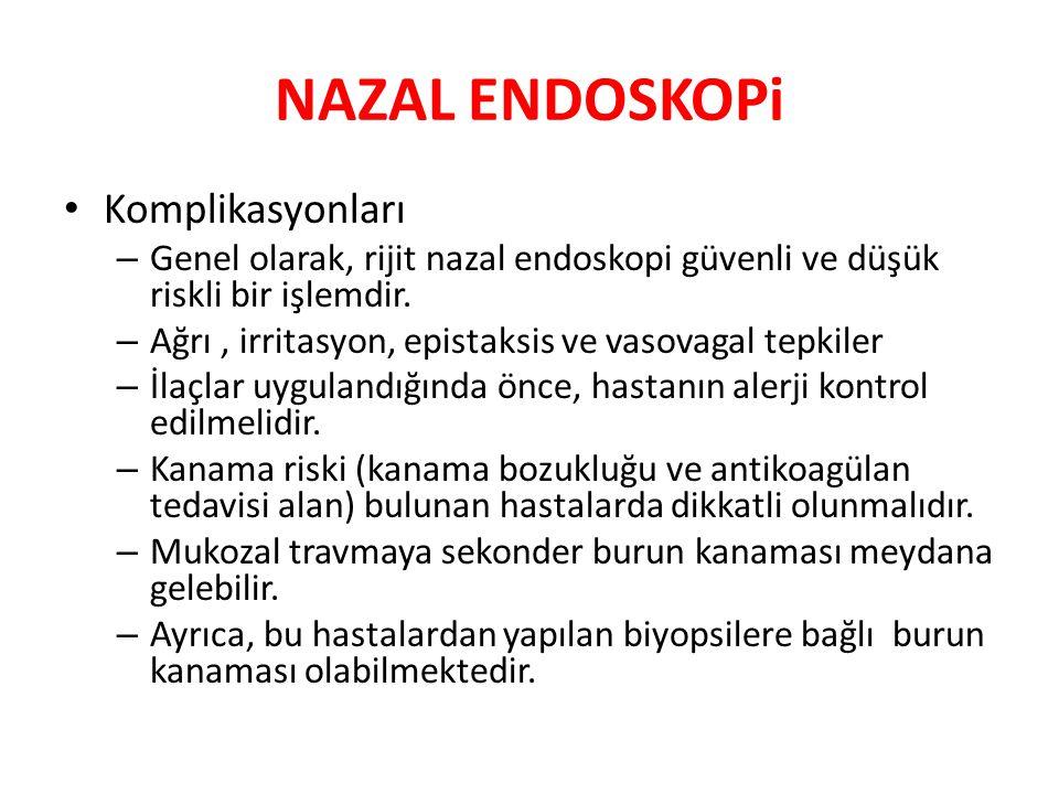 NAZAL ENDOSKOPi Komplikasyonları