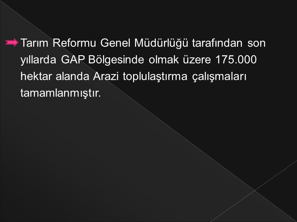 Tarım Reformu Genel Müdürlüğü tarafından son
