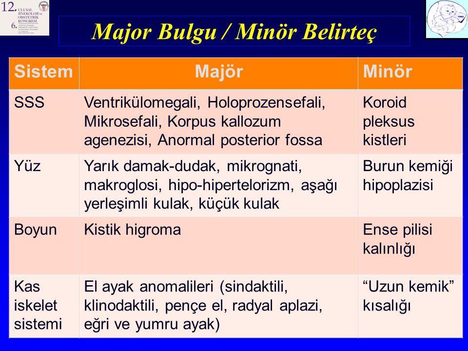 Major Bulgu / Minör Belirteç