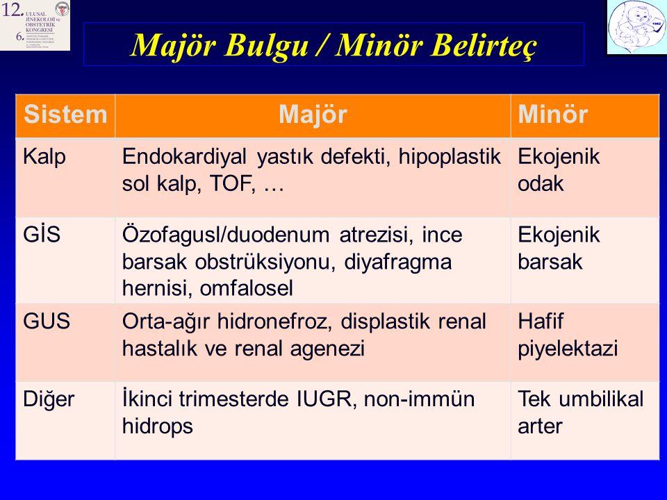 Majör Bulgu / Minör Belirteç