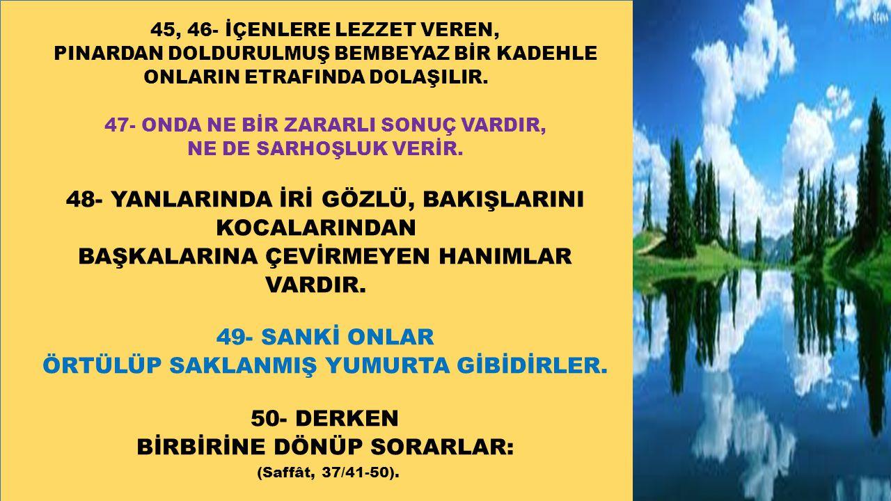 48- YANLARINDA İRİ GÖZLÜ, BAKIŞLARINI KOCALARINDAN